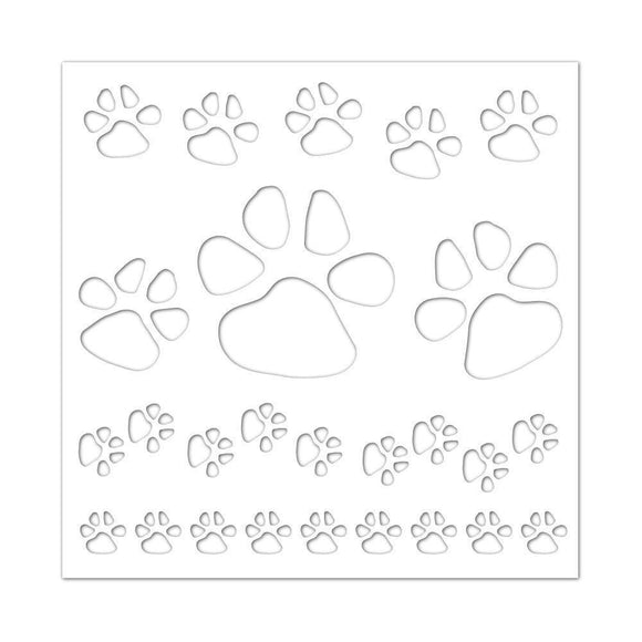 Simon Says Stamp - Stencil Paws Backgrond