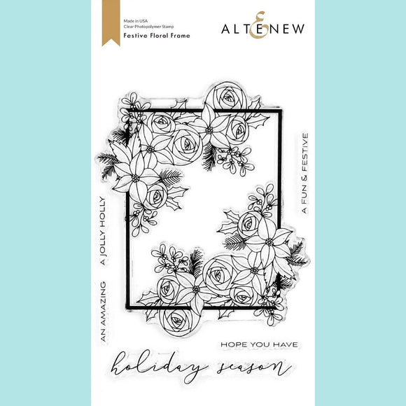 Altenew - Festive Floral Frame Stamp Set