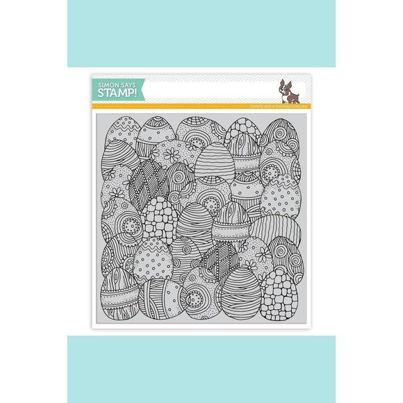 Simon Says Stamp - Doodle Egg Background Stamp