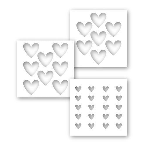Simon Says - Stamp Stencils Set HEART LAYERS