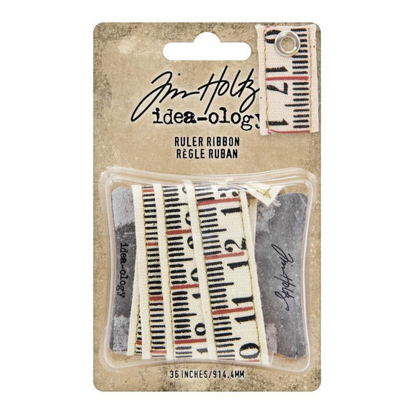 Stampers Anonymous - Tim Holtz Idea-ology - Ruler Ribbon