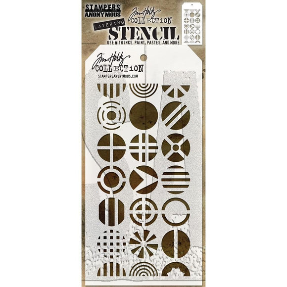 Stampers Anonymous - Tim Holtz Layering Stencil - Patchwork Circle