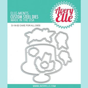 Avery Elle - Cake For All - Clear Stamps and Die
