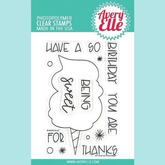 Avery Elle - Cotton Candy - Clear Stamps and Die