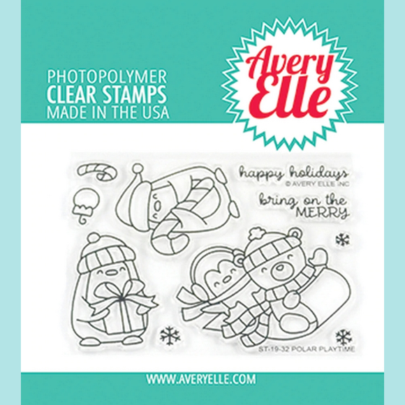 Avery Elle - Polar Playtime Clear Stamps and Dies