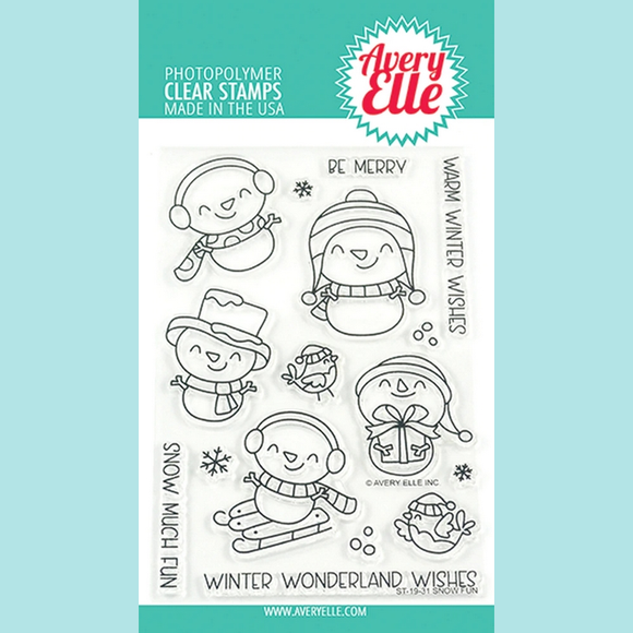 Avery Elle - Snow Fun Clear Stamps and Die