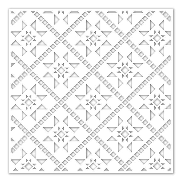 Simon Says Stamp - Stencil Quilted