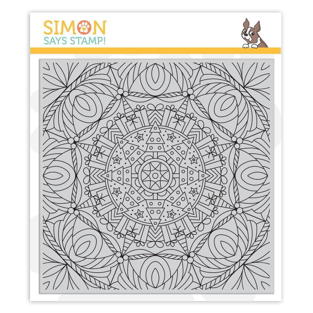 Simon Says Stamp - Cling Rubber Stamp Christmas Kaleidoscope Background