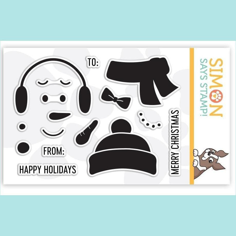 Simon Says Clear Stamps BUILD A SNOWMAN