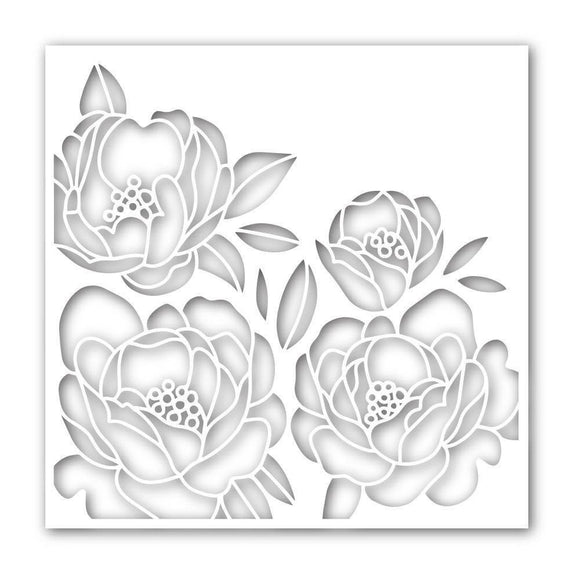 Simon Says Stamp Peony Bouquet Stencil