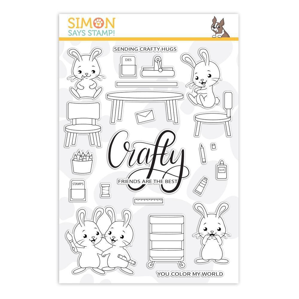 Simon Says Stamp - Crafty Hugs - Clear Stamps Crafty Bunnies