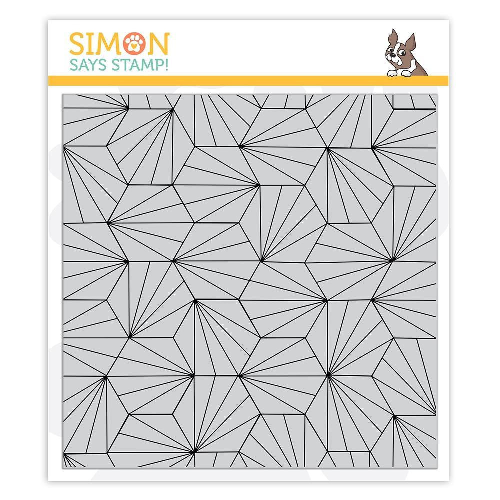 Simon Says - Hexagon Tile Background Stamp
