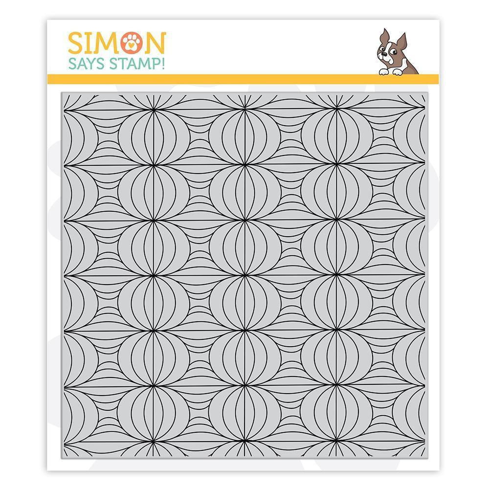 Gray Simon Says - Lantern Patterns Background Stamp