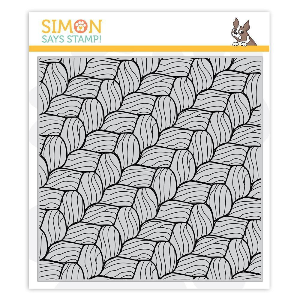 Simon Says Stamp - Cling Stamp - Chunky Sweater Background