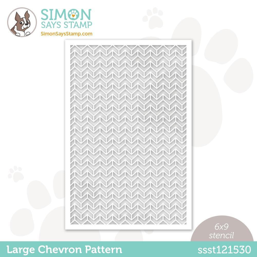 Simon Says Stamp Stencil LARGE CHEVRON PATTERN