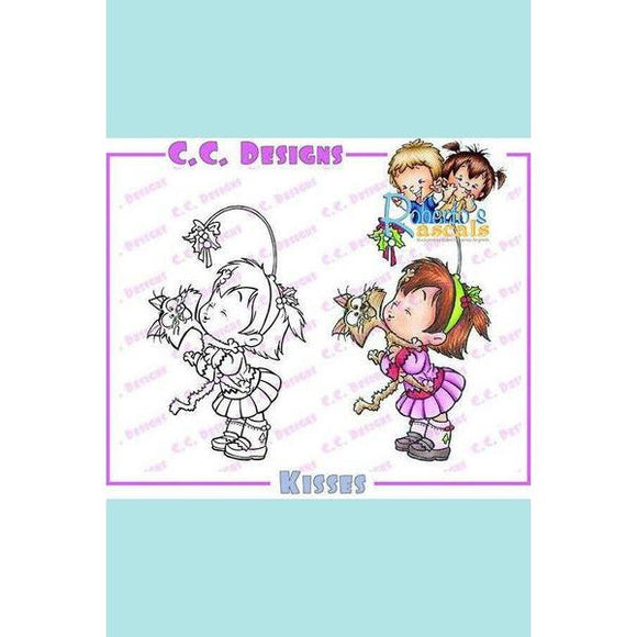 C.C. Designs Roberto's Rascals Kisses Rubber Stamp