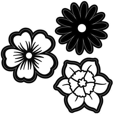 Darice® - Craft Dies - Spring Flowers - 3 pieces