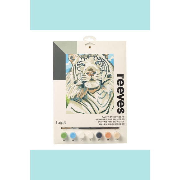 Reeves Medium Painting By Numbers - White Tiger