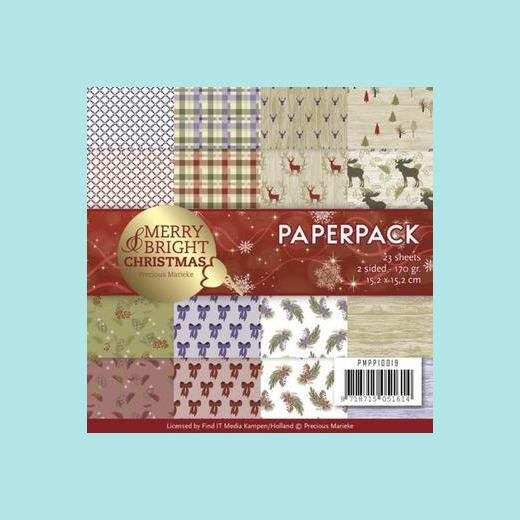 Find It Trading - Precious Marieke - Merry and Bright Christmas Paper Pack