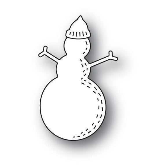 2.3 x Poppystamps - Whittle Snowman Craft Die centimeters assembled