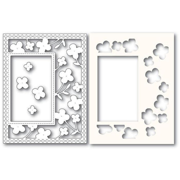 Poppystamps - Summer Blossoms Sidekick Frame Die and Stencil