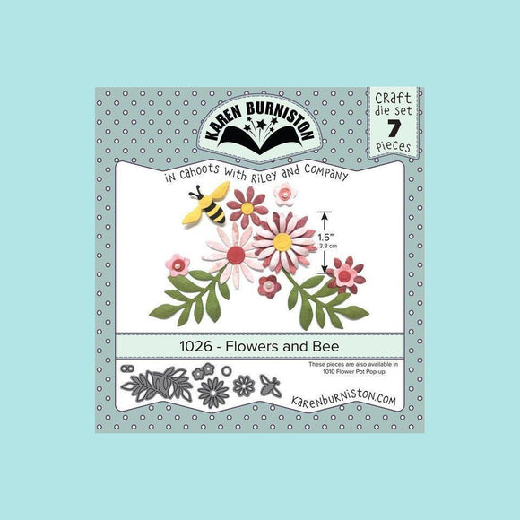 Karen Burniston Flowers and Bee Die Set