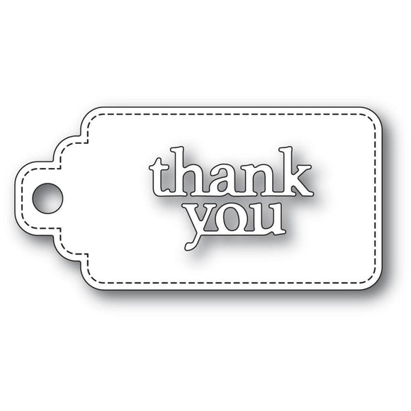 Poppystamps - Thank You Stitched Tag Craft Dies