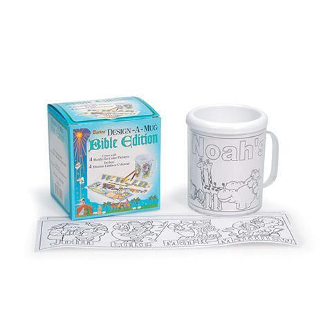 Darice - Plastic Design-A-Mug with Bible-Themed Inserts