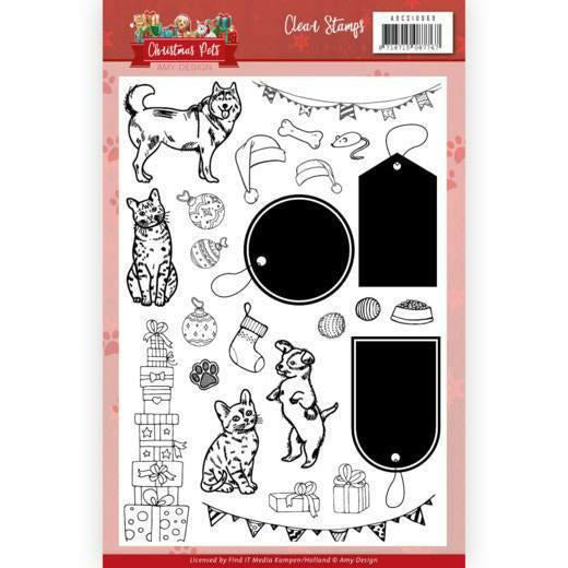 Amy Design - Clear Stamps - Christmas Pets