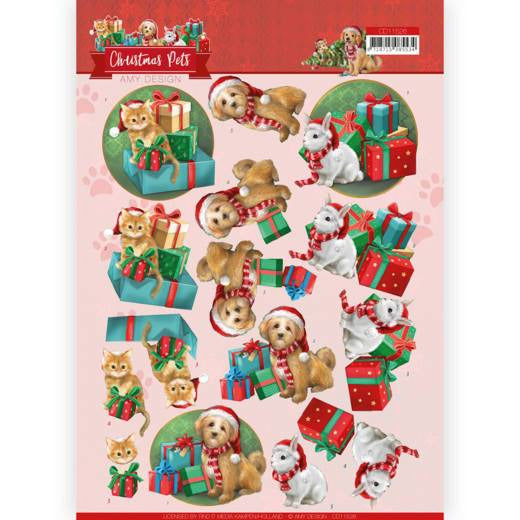 Amy Design - Christmas Pets - 3D Cutting Sheet Presents