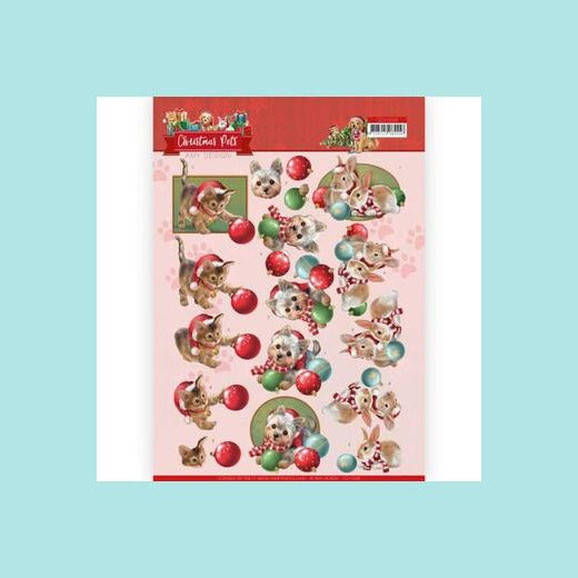 Amy Design - Christmas Pets - 3D Cutting Sheet Christmas Balls