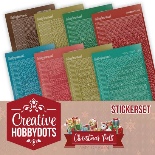 Amy Design - Christmas Pets - Creative Hobbydots 5 Sticker Set