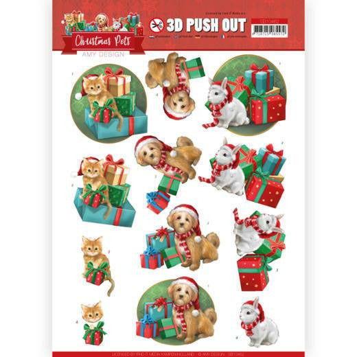 Amy Design - Christmas Pets - 3D Push Out Presents
