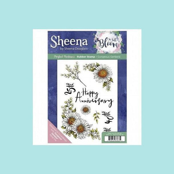 Sheena Douglass Perfect Partner In Full Bloom Stamp &  Dies - Gorgeous Gerbera