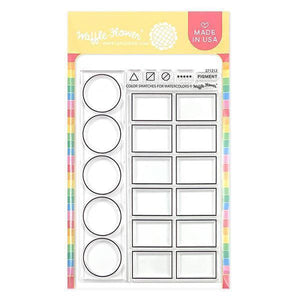 Waffle Flower Crafts 271212 Clear Stamps 4X6-Color Swatches for Watercolors