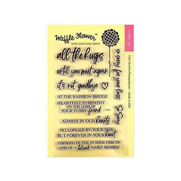 Waffle Flower - Rainbow Bridge Stamp and Dies