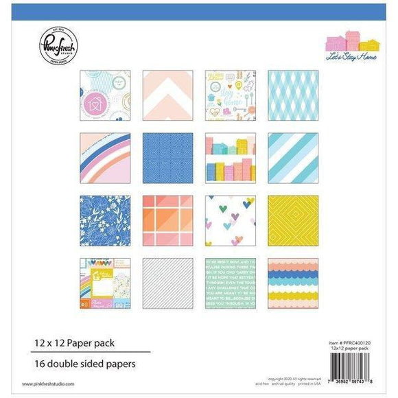 Pinkfresh Studio - Let's Stay at Home : 12 x 12 Collection Paper Pack