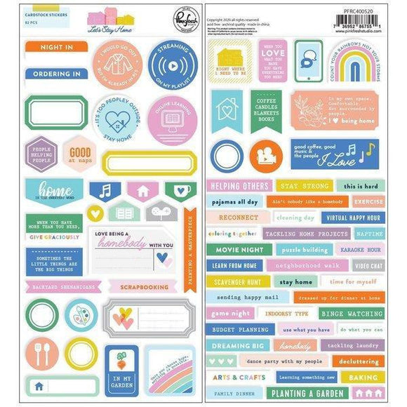 Pinkfresh Studio - Let's Stay at Home : Cardstock Stickers