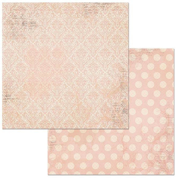 BoBunny - Double Dot - Family Heirlooms - 12 X 12 - Dusty Rose Damask