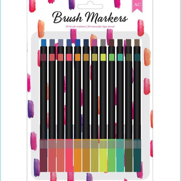 American Crafts - Brush Markers - Lipstick Swatch 24 pc