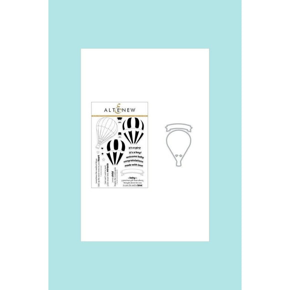 Baby Ballon Stamp Set & Die Bundle