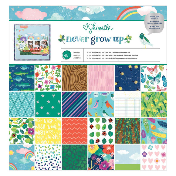 American Crafts - Never Grow Up - Paper Pack 12 x 12