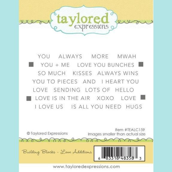 Taylored Expressions - Building Blocks - Love Additions Stamps
