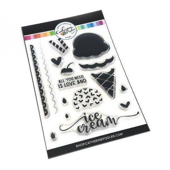 Catherine Pooler - 3 Scoops Stamp Set