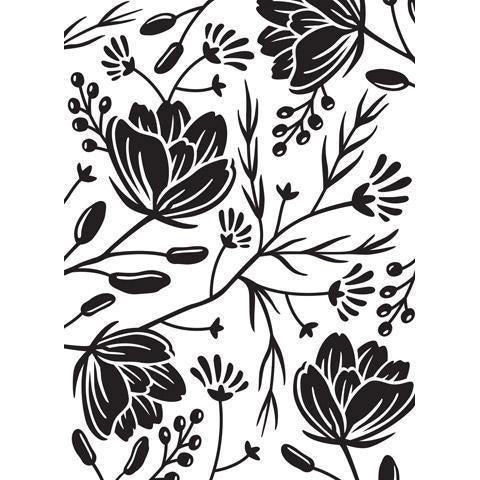 Darice® Embossing Folder - Flower Pod Background