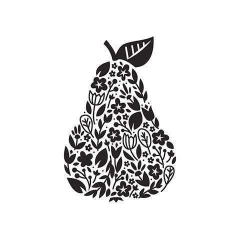 Darice® Embossing Folder - Floral Pear