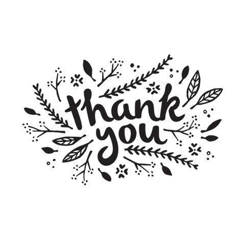 Darice® - Word Embossing Folders: Thank You Leaves