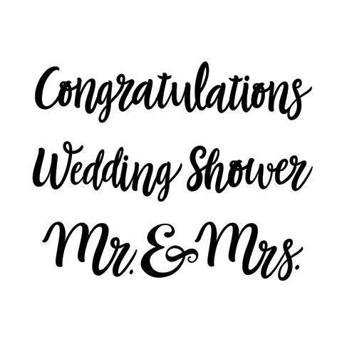 Darice® Embossing Folder - Congrats Wedding