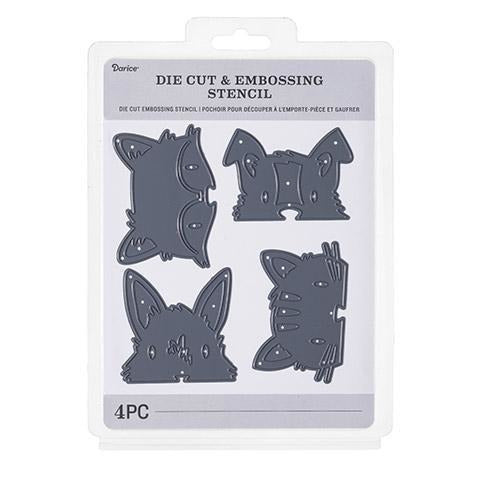 Darice® - Craft Cutting Dies: Animal Faces, 4 pieces