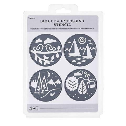 Darice® - Craft Cutting Dies: Circles Outdoors, 4 pieces